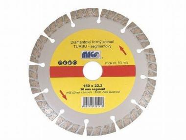 Kotouč diamantový turbo segment. laser 180x2,5x22,2,, 11217 - Diamantový kotouč LASER, turbo - segment, 180 x 2.5 x 22.2 mm, univezální, užití : břidlice, betonové tašky, mramor, granit, betonové roury, keramické roury, stavební bloky, těžko tavitelné mat