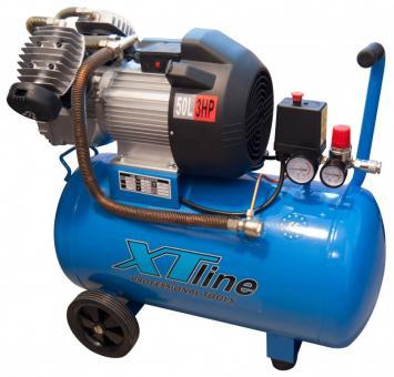 Kompresor olejový XTline 50L, 8bar - Výkon:2,2kWG4455G4455 Nádrž:50 LG4455 Max.tlak:8 barG4455 orientační sací výkon: 420l/min