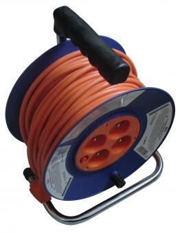 Kabely prodlužovací 25m, 230V 4zásuvky - Kabely prodlužovací 25m, 230V 4zásuvky Délka: 25m Izolace:IP 20 průřez kabelu (mm2) 3X1