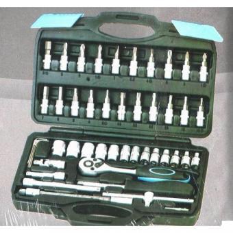 """Gola sada 94 dílů HOBBY - Gola sada 1/4"""", 41 dílů, 4 -14 mm obsah """" hlavice 1/4"""" : 4mm, 4.5mm, 5mm, 5.5mm, 6mm, 7mm, 8mm, 9mm, 10mm 11mm, 12mm, 13mm, 14mm bity - nástavce : TORX : T10, T15, T20, T25, T30, T40 IMBUS : 3mm, 4mm, 5mm, 6mm, 7mm, 8mm křížový P"""