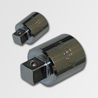 """Redukce 1/4"""" - 3/8"""" Honiton H230 - Redukce HONITON Rozměry: 1/4"""" (6,3mm) na 3/8"""" (9,5mm) Redukce s vnitřním čtyřhranem 1/4"""" pro nasazení výstupní čtyřhran 3/8"""" (9,5mm) Materiál: CRV chrom vanadium leštěný Výrobce: HONITON O značce HONITON HONITON byl zalo"""