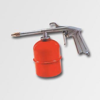 Pistole rozprašovací vzduchová, 19607 - Pistole rozprašovací vzduchová se zásobníkem Objem nádoby: 1000ml Použití: vhodná k rozprašování čistících nebo konzervačních prostředků a.j.