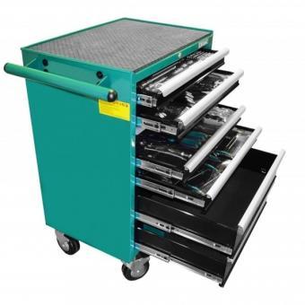Montážní vozík na nářadí kovový vybavený 215dílů HONITON PROFI HA 230 680x458x860mm - Sada nářadí HONITON 226 dílná Kovový montážní vozík na nářadí se 7 zásuvkami. Dvě pevná a dvě otočná kolečka s poziční brzdou. Zásuvky na kuličkových ložiskách lze vysun