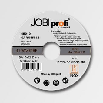 """Kotouč řezný na nerez 230x2,2 mm - Kotouč řezný na kov 230x2,2 Použití:Dělení (řezání,broušení) ocelových materiálů různých profilů pro úhlové brusky neboli """"flexy"""" či """"rozbrušky"""" do průměru kotoučů 230 mm."""