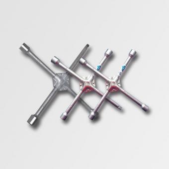 """Křížový utahovák kol 17-19-21-1/2"""" P16665 - Klíč na kola křížový. Rozměry: 17-19-21-1/2"""" Materiál: Kvalitní ocel mat: Použití: Autodílny,autoservisy,vybavení automobilů."""