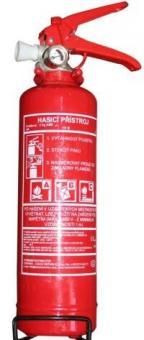 Hasící přístroj 2kg práškový s držákem - Třídy požárů: A B C, množství hasiva: 2kg S revizní zkouškou Vhodný pro výbavu osobních a užitkových automobilů a domácností.