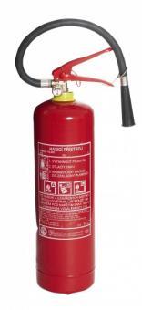 Hasící přístroj 6kg práškový s držákem - Třídy požárů: A B C, množství hasiva: 6kg S revizní zkouškou Vhodný pro výbavu osobních a užitkových automobilů domácností,podniků,kanceláří,dílen a.j.