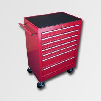 Skříň na nářadí kovová - Skříň na nářadí kovová s pojezdovými koly a rukojetí. 2 zásuvky: 573x406x154mm 5 zásuvek: 573x406x75mm Rozměr: 680x458x860mm