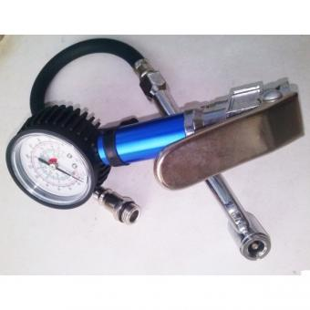 Pistole s manometrem, P19613 - Pistole na huštění s manometrem XT1008,DR-2013 Pistole na huštění - profi, s manometrem Pistoje na pneumatiky s manometrem a odpouštěcím ventilem, připojení pro rychlospojku. manometr, koncovka pro automobilový ventilek, had