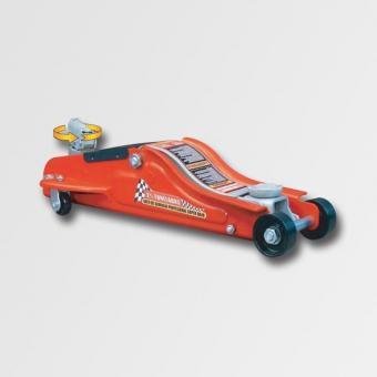 Hydraulický zvedák pojízdný 2t nízký - Hydraulický zvedák pojízdný 2t nízký Minimální výška: 89mm Maximální výška: 359mm Rozměry:590x275x180mm Váha: 14,2kg Otočná rukojeť o 360 stupnů