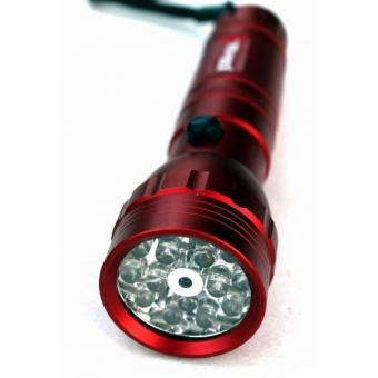 Svítilna 15LED+UV+laser,X5909 - Svítilna 15xLED + laser, celokovová, LED diody : 10 ks super jasných bílých 5 ks ultrafialových 1 ks laserové ukazovátko hliníkové, voděvzdorné tělo, životnost diod : 100 000 hodin dosah svícení : 30 metrů, 3 druhy svícení,