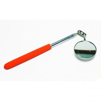 Zrcátko magnetické inspekční teleskopické LED diody - Teleskopické inspekční zrcátko, velké, průměr 55 mm, celková délka po vysunutí 925 mm pogumované plastová rukojeť s klipem