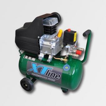 Kompresor olejový XTline 24L XT1002 - Kompresor olejový XTline 24L,8 Parametry Hladina akustického výkonu: 89,6 dB Hladina akustického tlaku: 69,6 dB Teor. sací výkon: 206 l/min Objem tlakové nádoby: 24 l Hmotnost přístroje: 25 kg Provozní tlak: 8 bar Poč