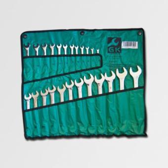 Sada klíčů očkoplochých 6-32mm, 24ks - Sada klíčů očkoplochých 6-32mm, 24 dílná Sada očkoplochých klíčů v textilním obalu. Klíče jsou z jedné strany ploché otevřené, ze strany druhé je 12-ti hranné očko. rozměry:6, 7, 8, 9, 10, 11, 12, 13, 14, 15, 16, 17,