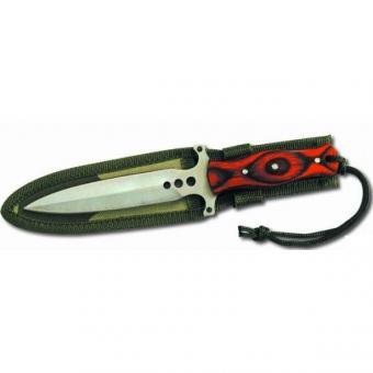 Nůž s pouzdrem na opasek, 19120 - Nůž s pouzdrem na opasek s dřevěnou rukojetí Rozměr: Použití: Všestranné použitím.
