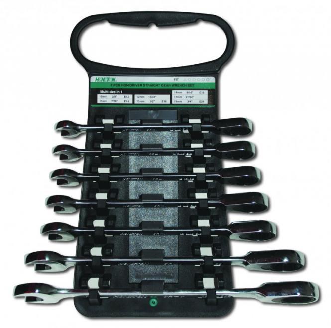 Ráčnové klíče sada Profi OP 10-19mm, HONITON H3071