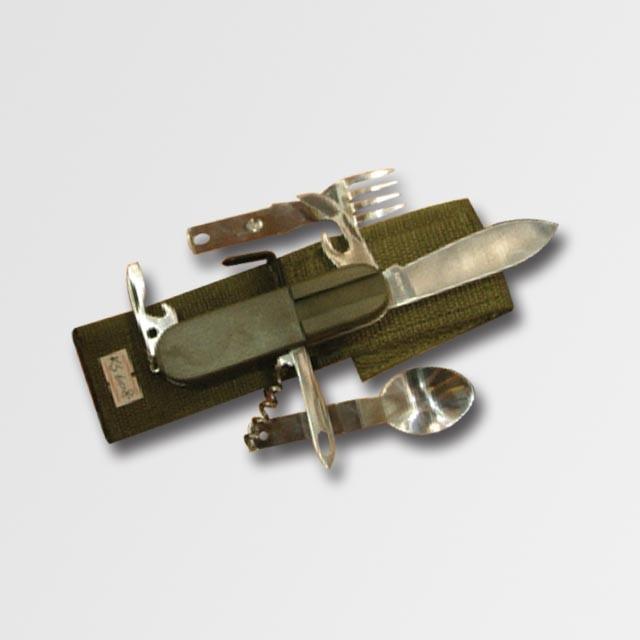 Nůž campingový 8-dílný v textilním pouzdře